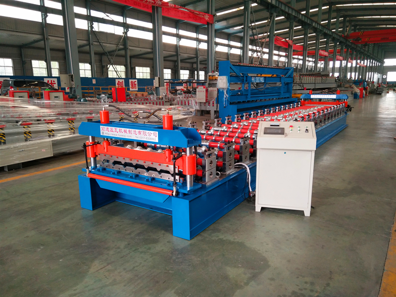 Cambodia Trapezoidal Roofing Sheet Roll Forming Machine